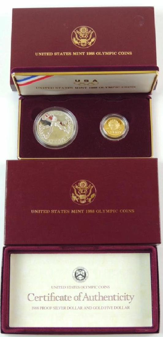 1988 Olympic Commemorative 2-coin Proof Set - 4