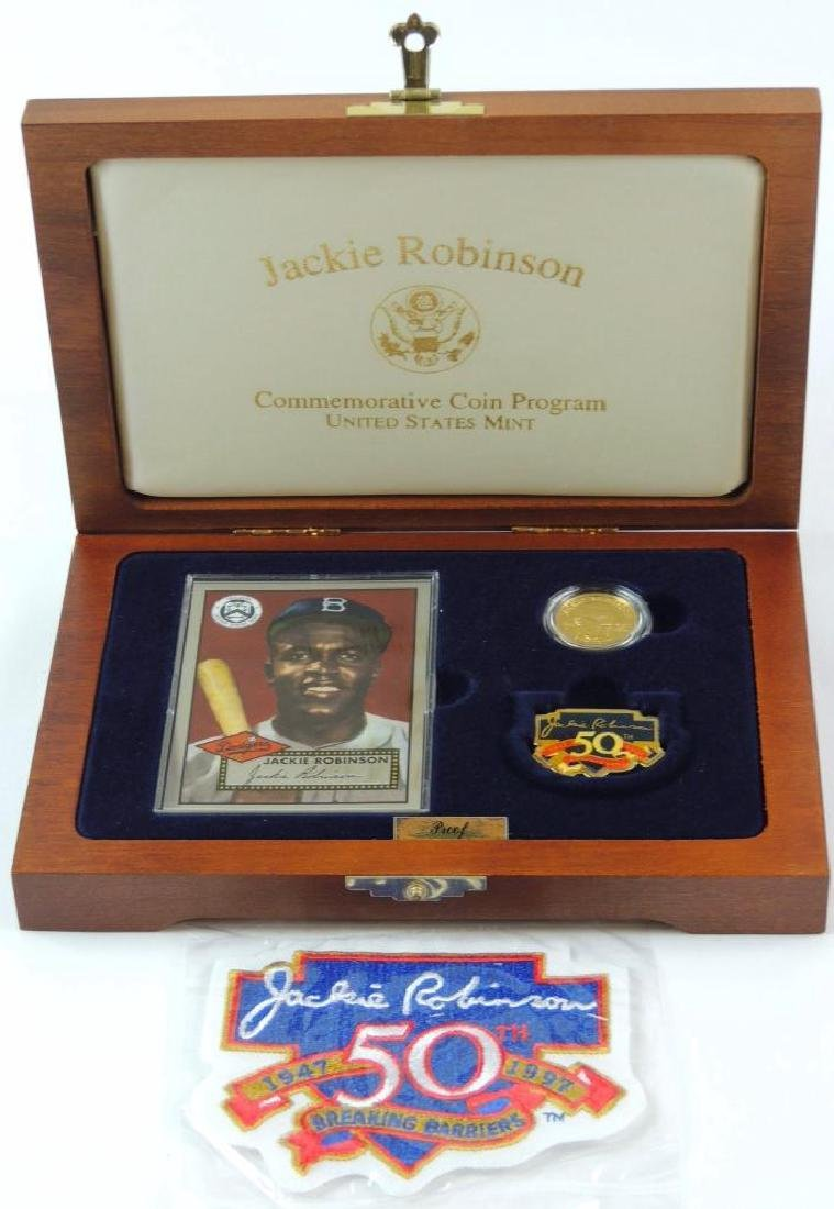 1997-W Jackie Robinson Commemorative Proof Coin Set - 2