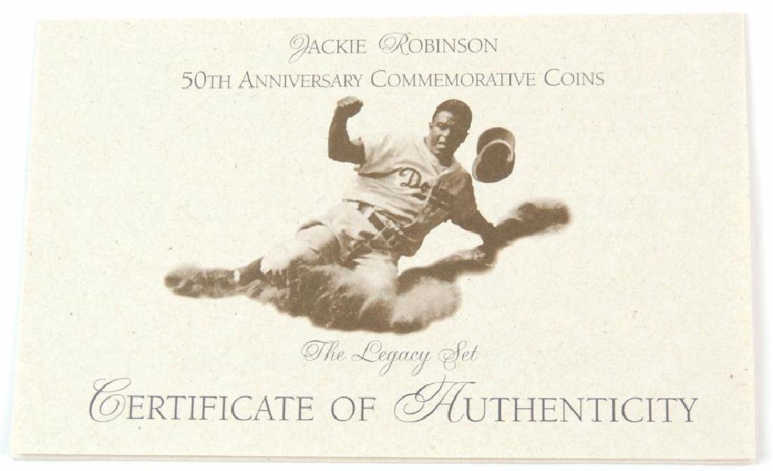 1997-W Jackie Robinson Commemorative Proof Coin Set - 4