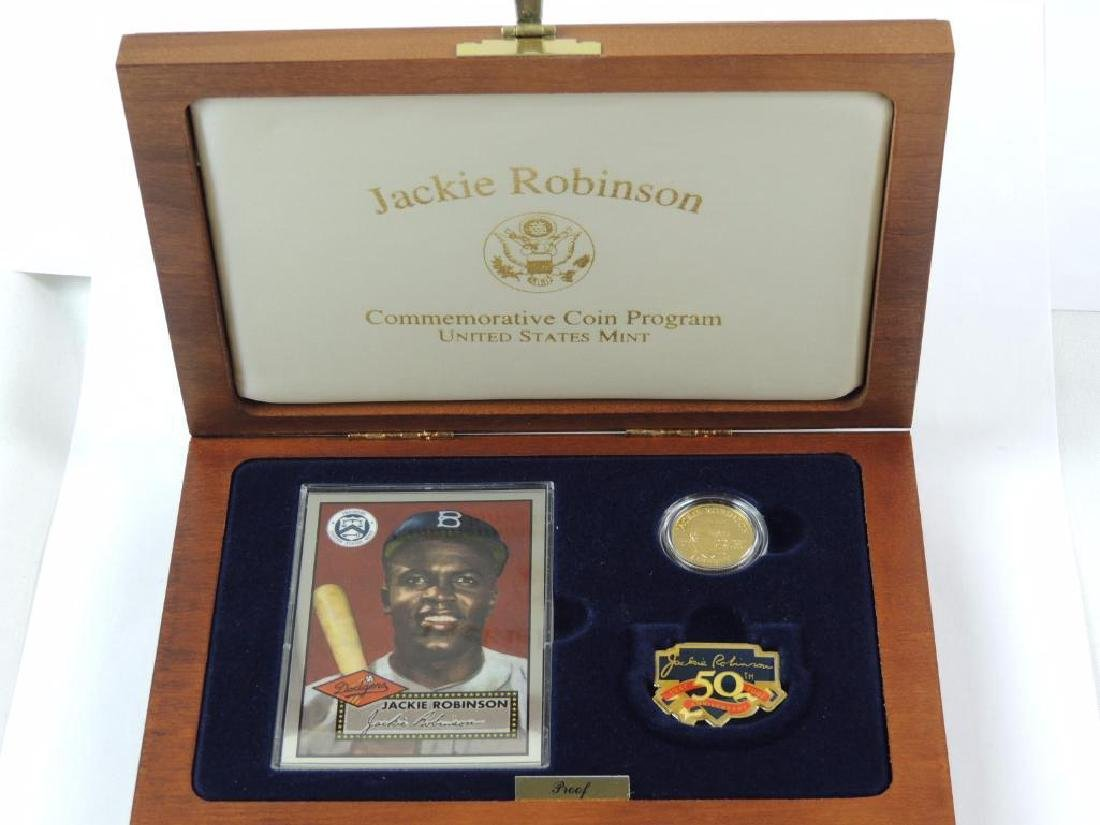 1997-W Jackie Robinson Commemorative Proof Coin Set - 5