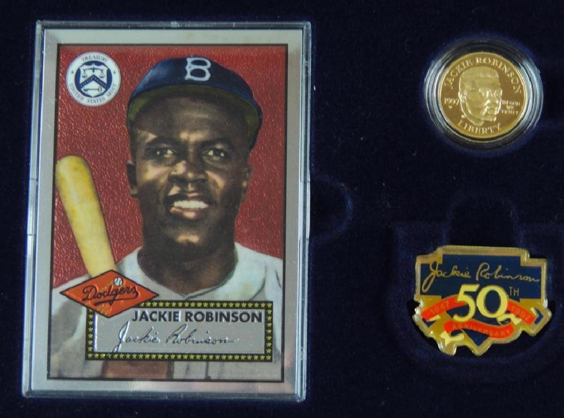 1997-W Jackie Robinson Commemorative Proof Coin Set - 7