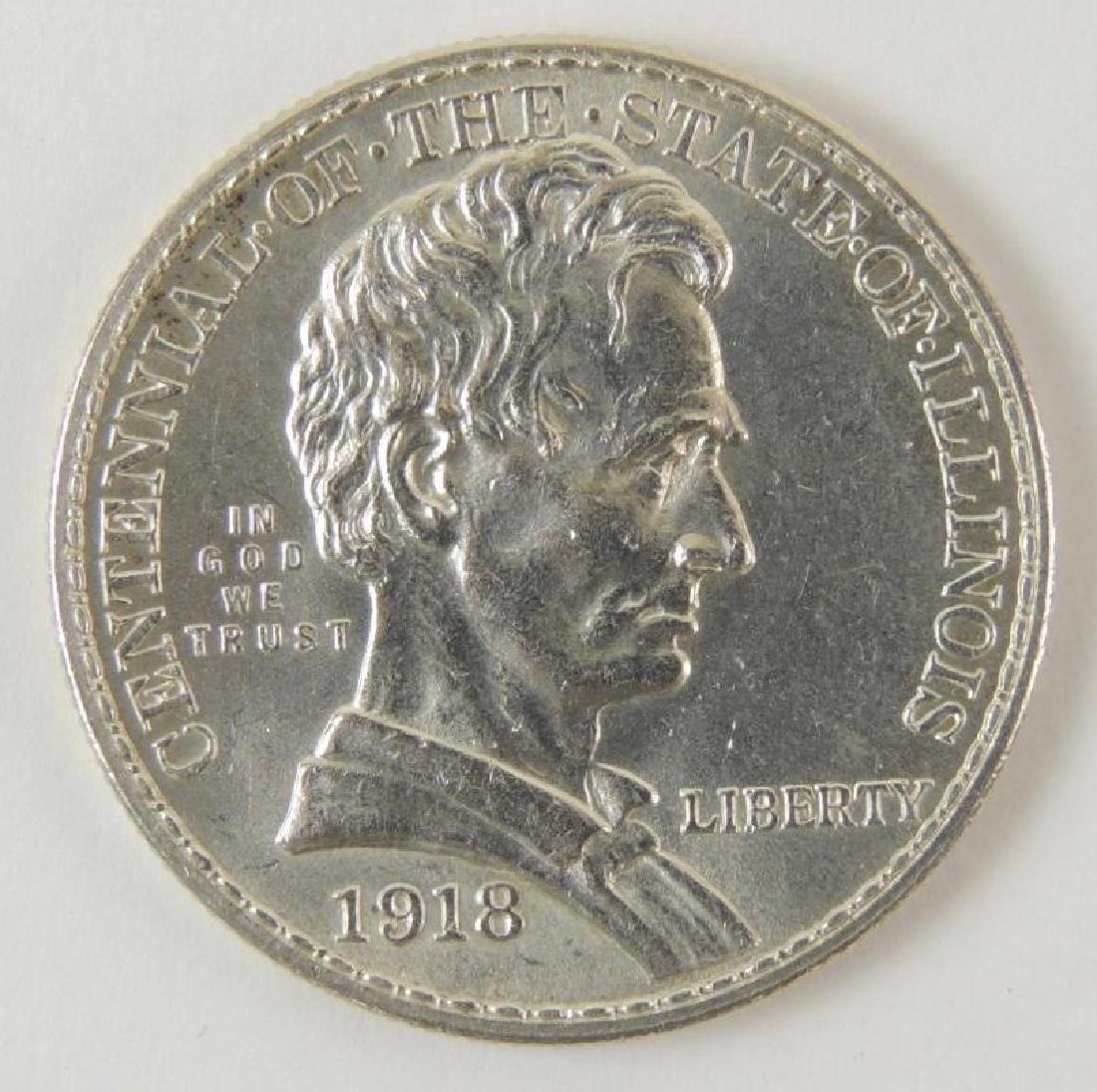 1918 Illinois Centennial Commemorative Half Dollar