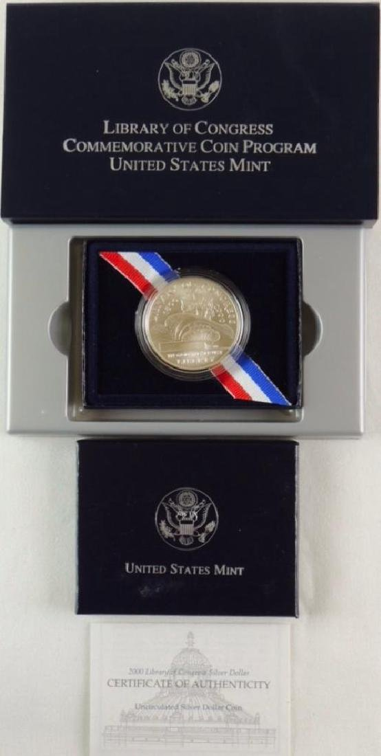 Set of 2 - 2000-P Library of Congress Uncirculated - 2