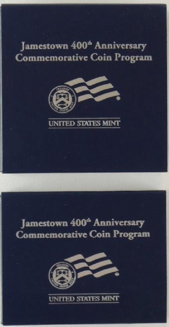 Set of 2 - 2009-P 400th Anniversary of Jamestown