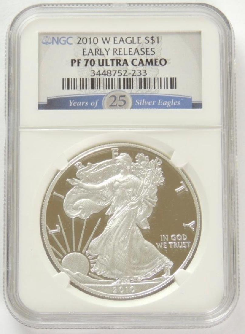 2010-W Silver Eagle PF70 Ultra Cameo (Early Release)