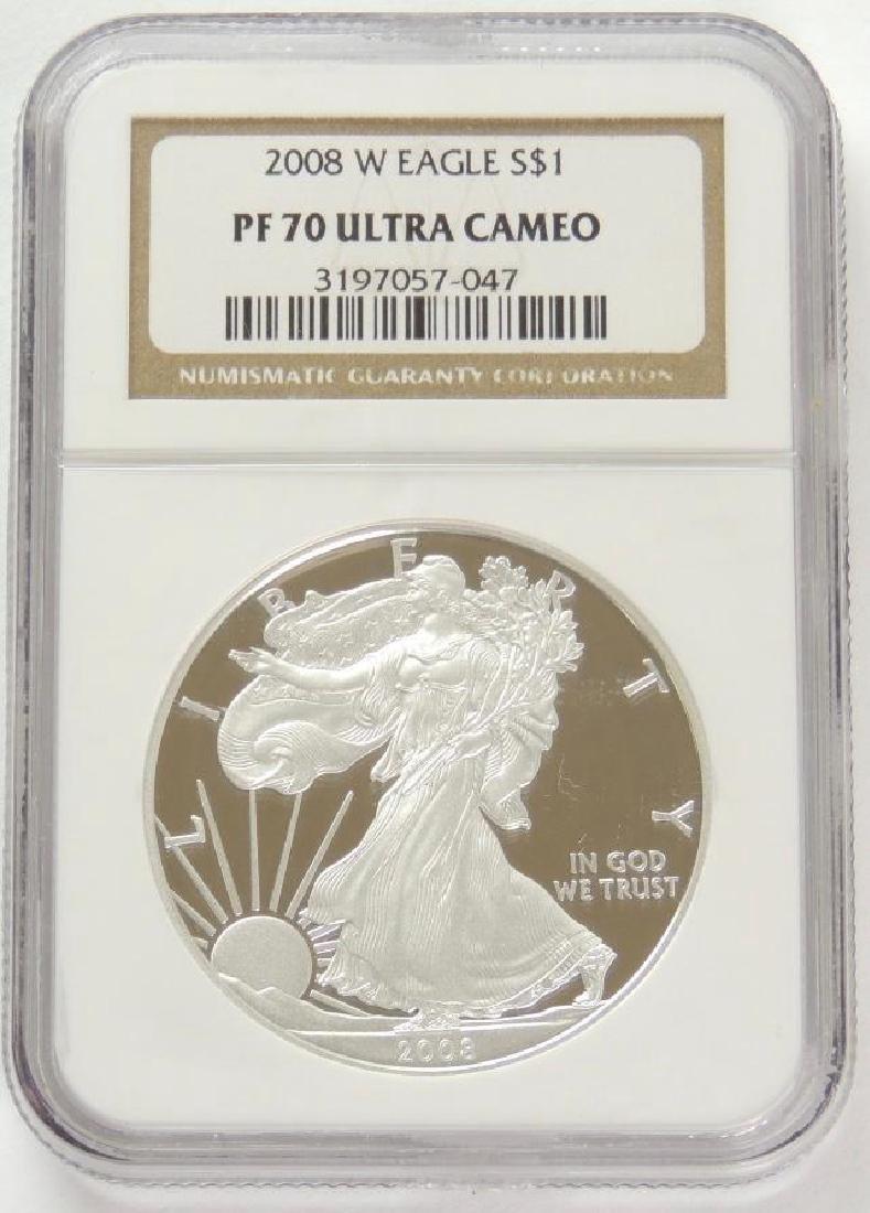 2008-W Silver Eagle PF70 Ultra Cameo