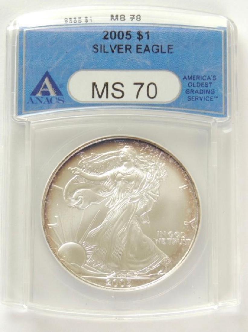2005 Silver Eagle MS70