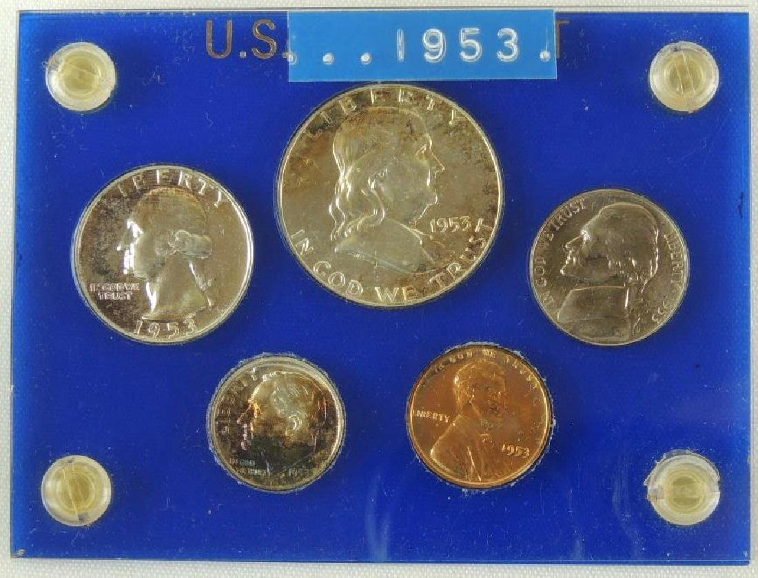 1953 United States 5-coin Proof Set w/acrylic case