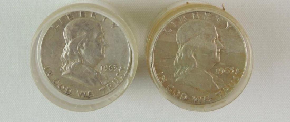 Group of 31 Franklin Half Dollars : 1950-1963 - 2