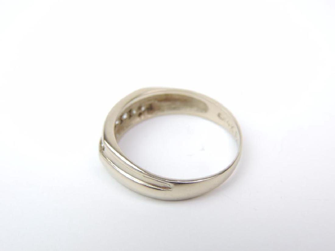 14K White Gold and Channel SetDiamond Band - 2