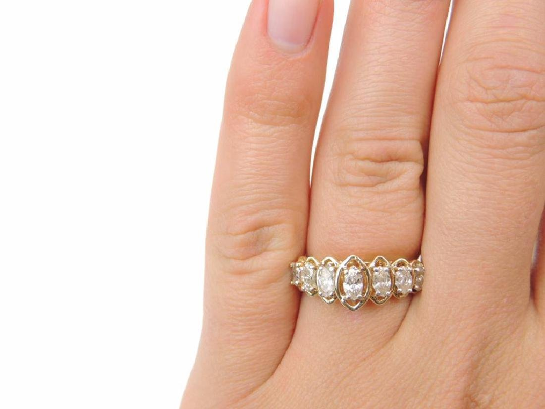 14K Yellow Gold and Diamond Raised Marquis Ring - 4