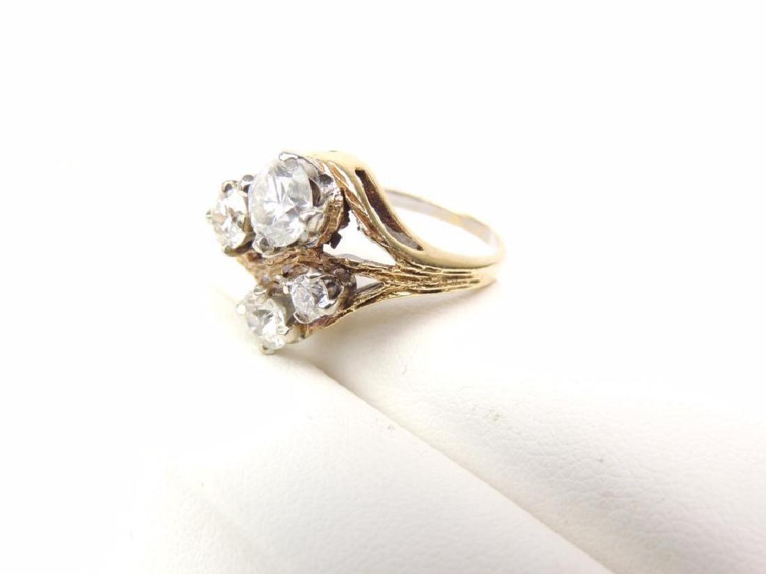 14K Yellow Gold Diamond Freeform 4-Stone Ring (2.15cwt) - 3