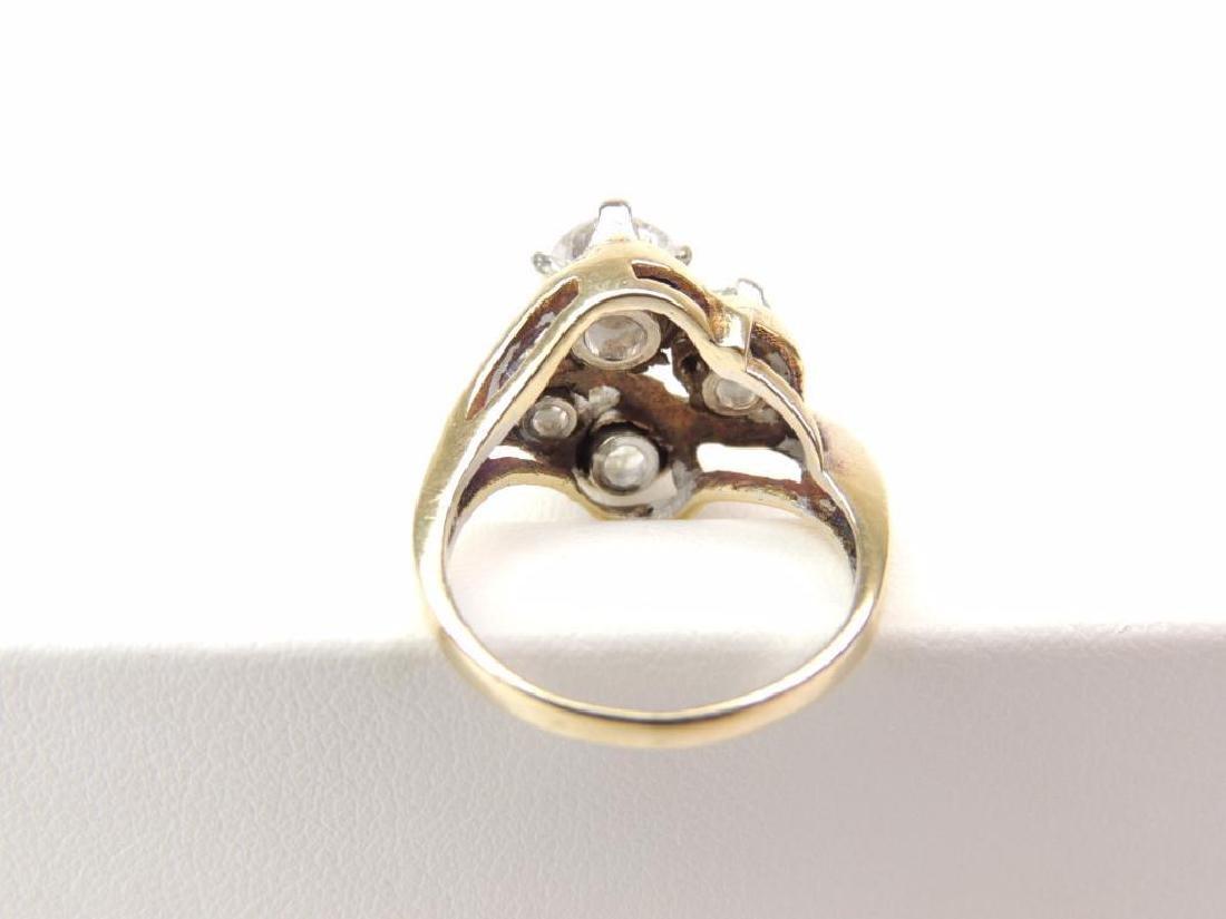 14K Yellow Gold Diamond Freeform 4-Stone Ring (2.15cwt) - 4