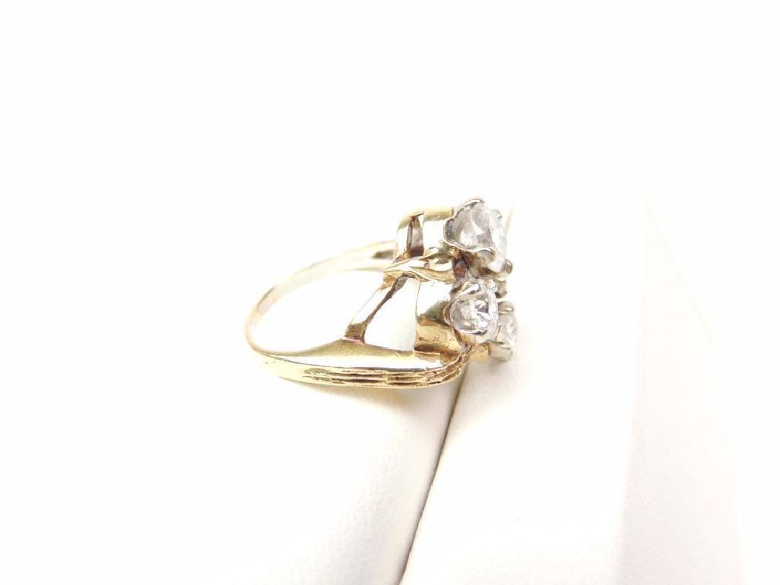14K Yellow Gold Diamond Freeform 4-Stone Ring (2.15cwt) - 5