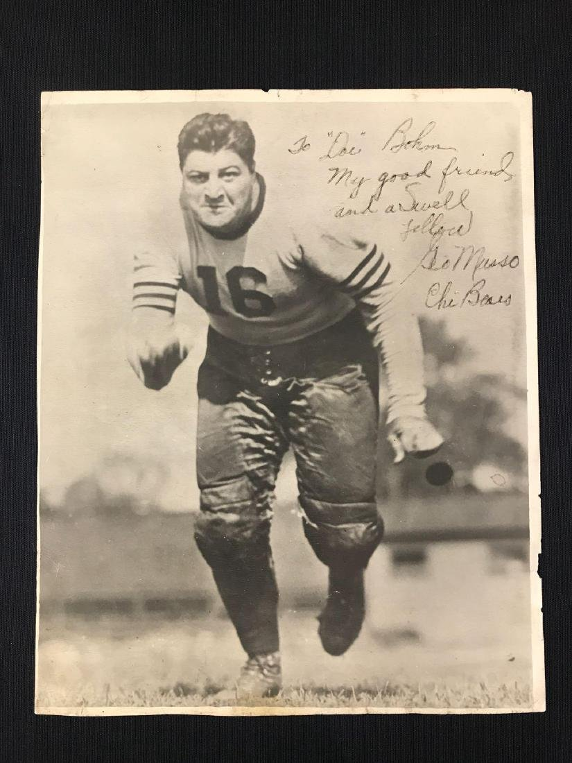 Signed Chicago Bears George Musso photograph