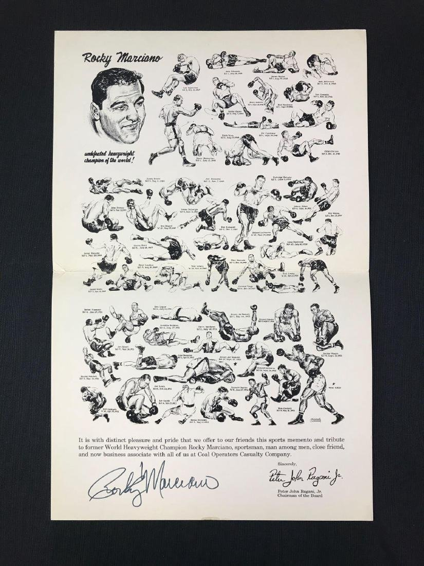 Signed Rocky Marciano Coal Operators Casualty Co.