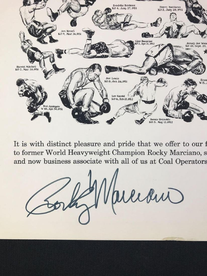 Signed Rocky Marciano Coal Operators Casualty Co. - 2