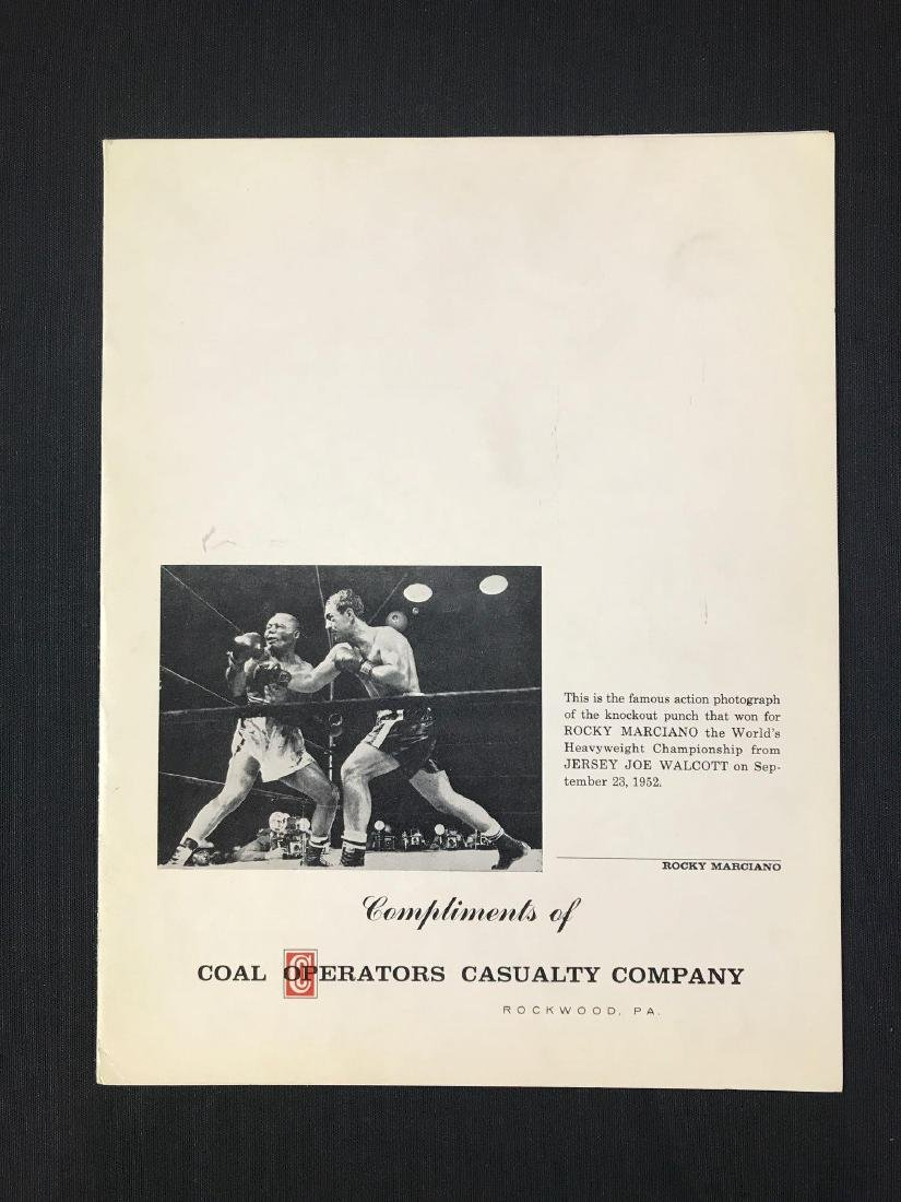 Signed Rocky Marciano Coal Operators Casualty Co. - 3