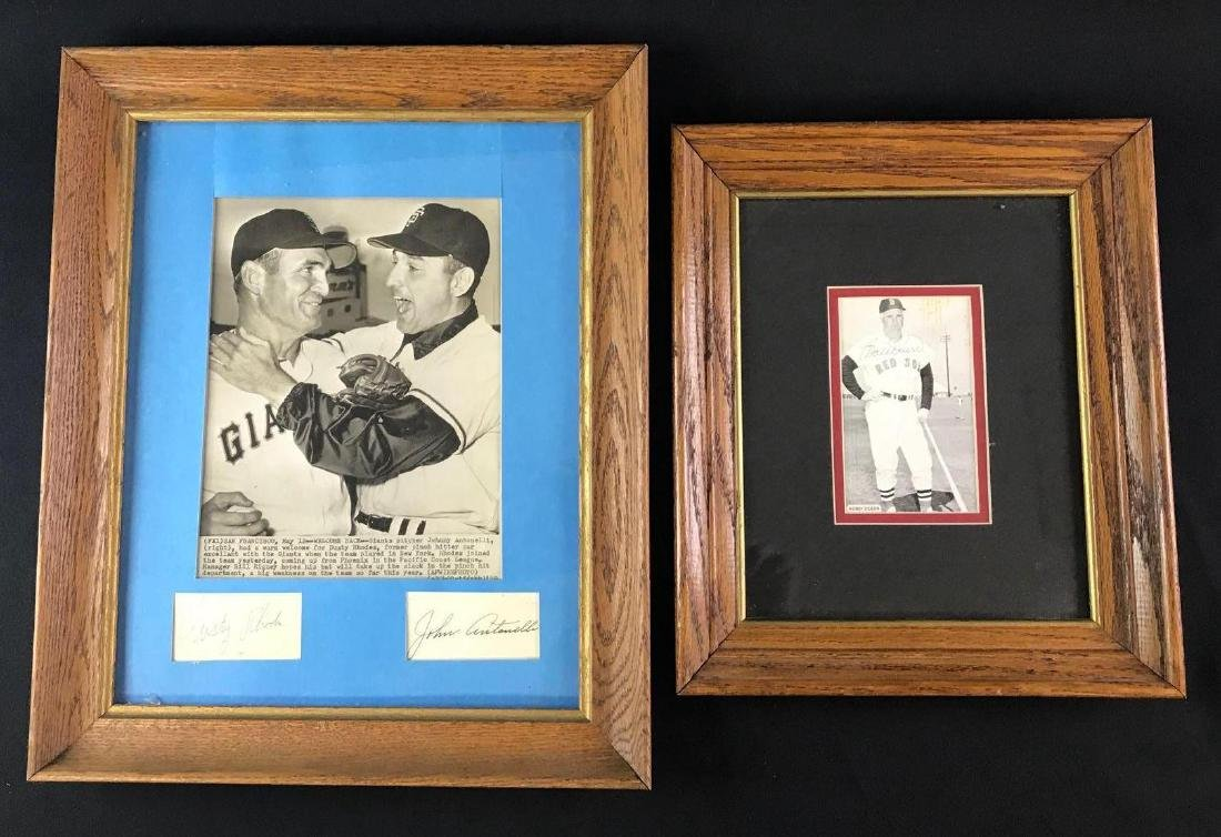 Group of two signed photographs featuring Bobby Doerr,