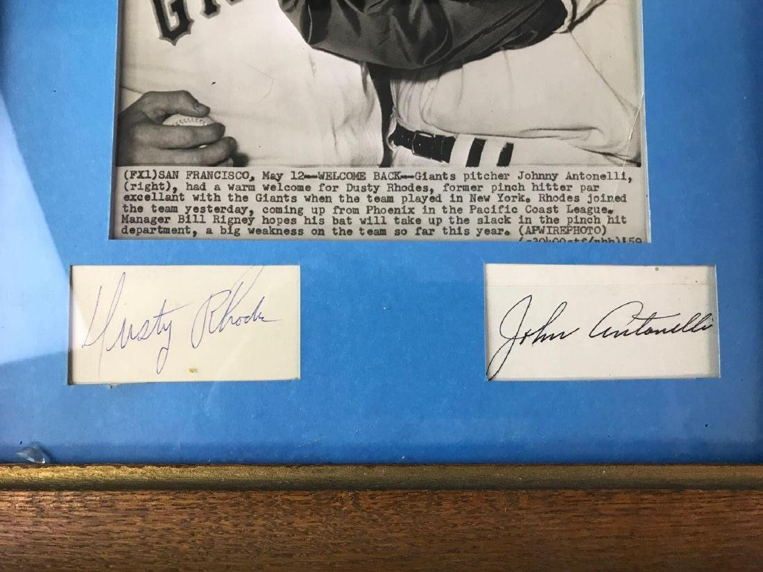 Group of two signed photographs featuring Bobby Doerr, - 3