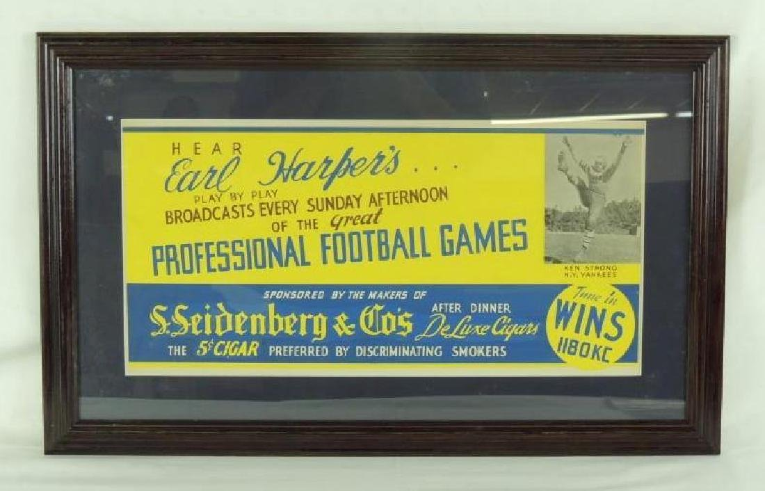 Rare Early Professional Football Radio Advertisement