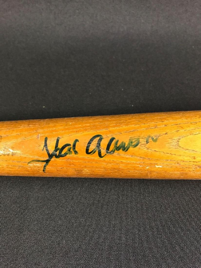 Hank Aaron signed miniature baseball bat - 2