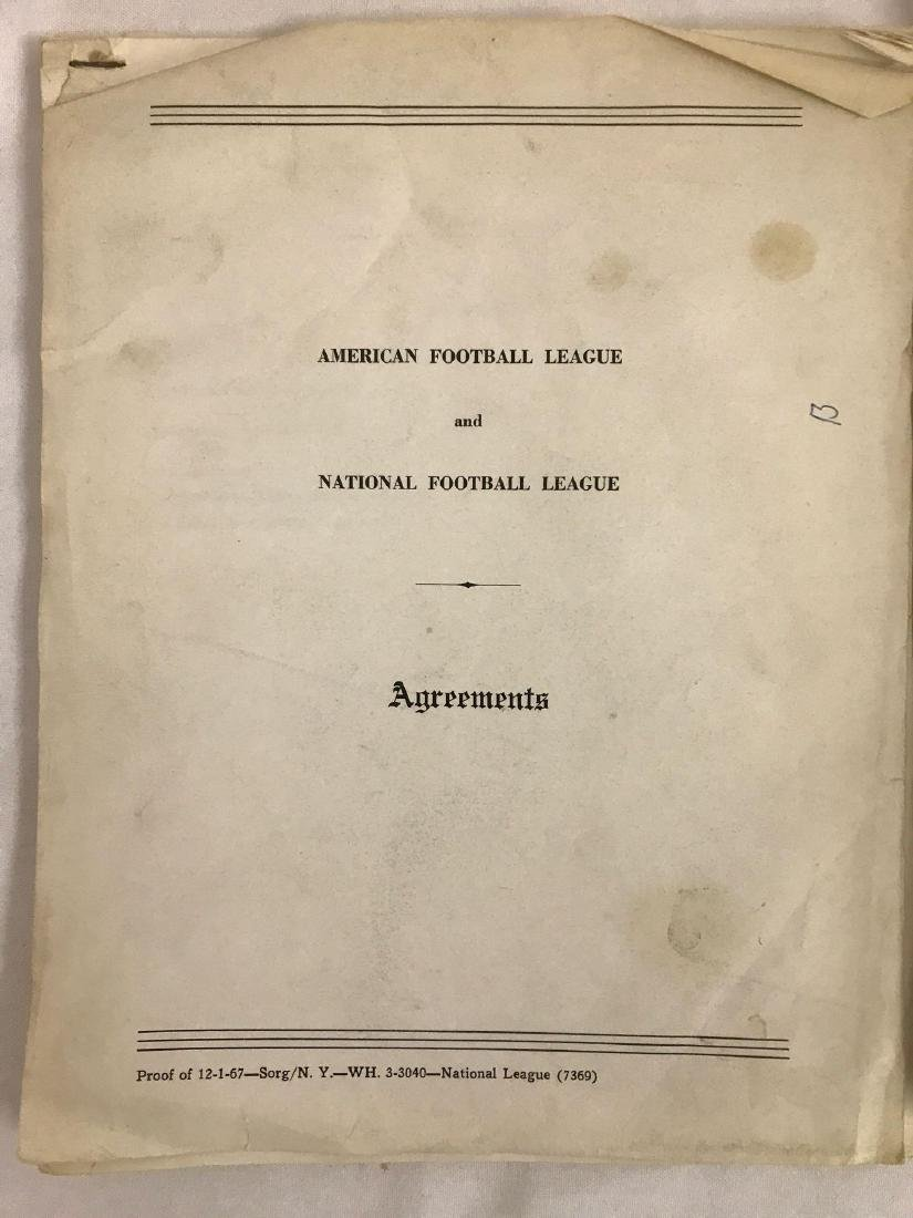Group of vintage NFL agreements and management reports - 2