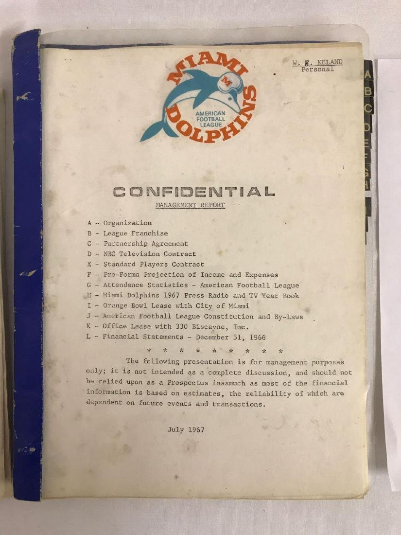 Group of vintage NFL agreements and management reports - 3