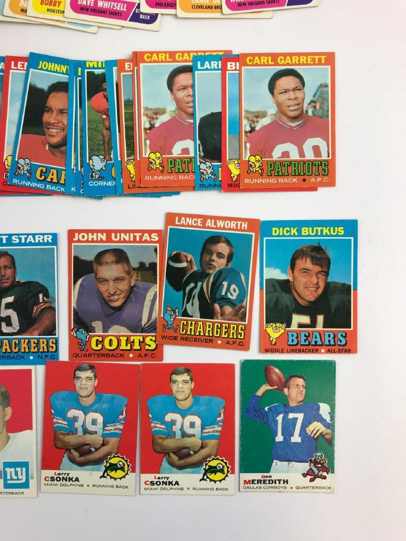 Approximately 200 1968, 69, 71 vintage Topps football - 2