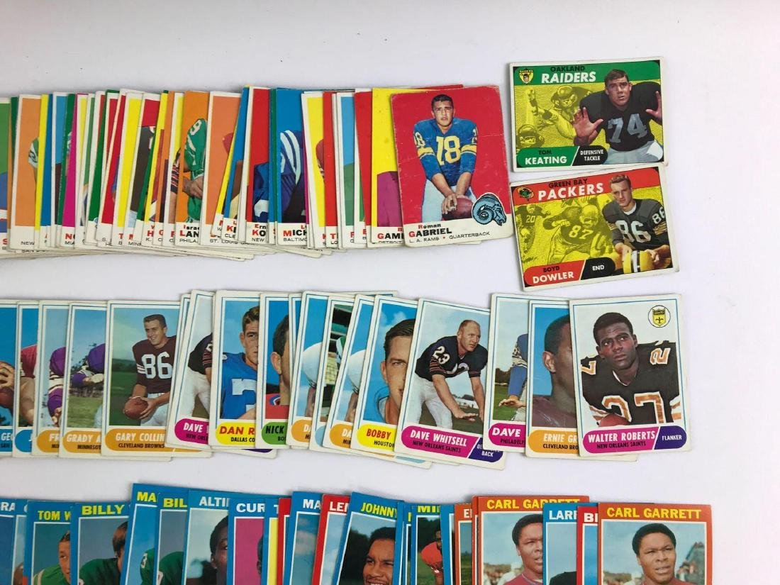 Approximately 200 1968, 69, 71 vintage Topps football - 5