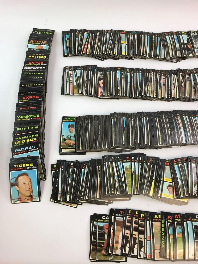 Approximately 1200+ 1971 Topps baseball cards - 4