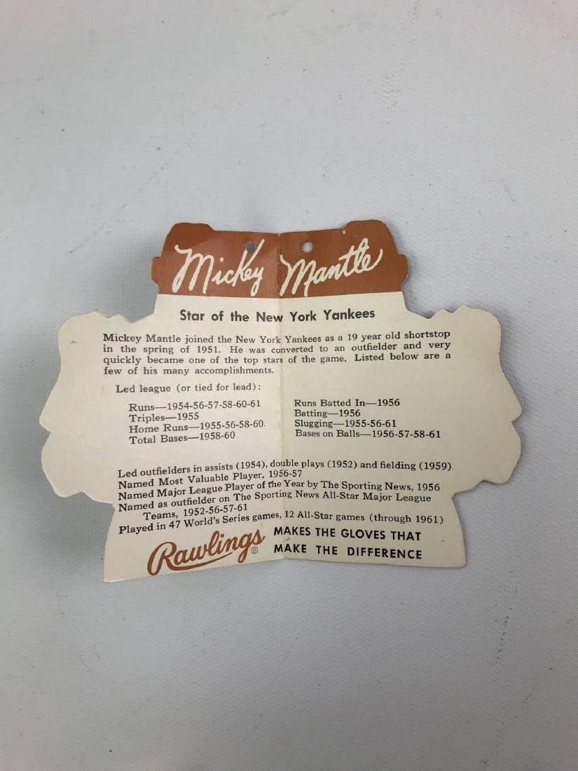 1961/62 Mickey Mantle Rawlings glove tag - 3