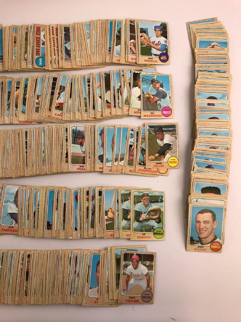 Approximately 1100+ 1968 Topps baseball trading cards - 2