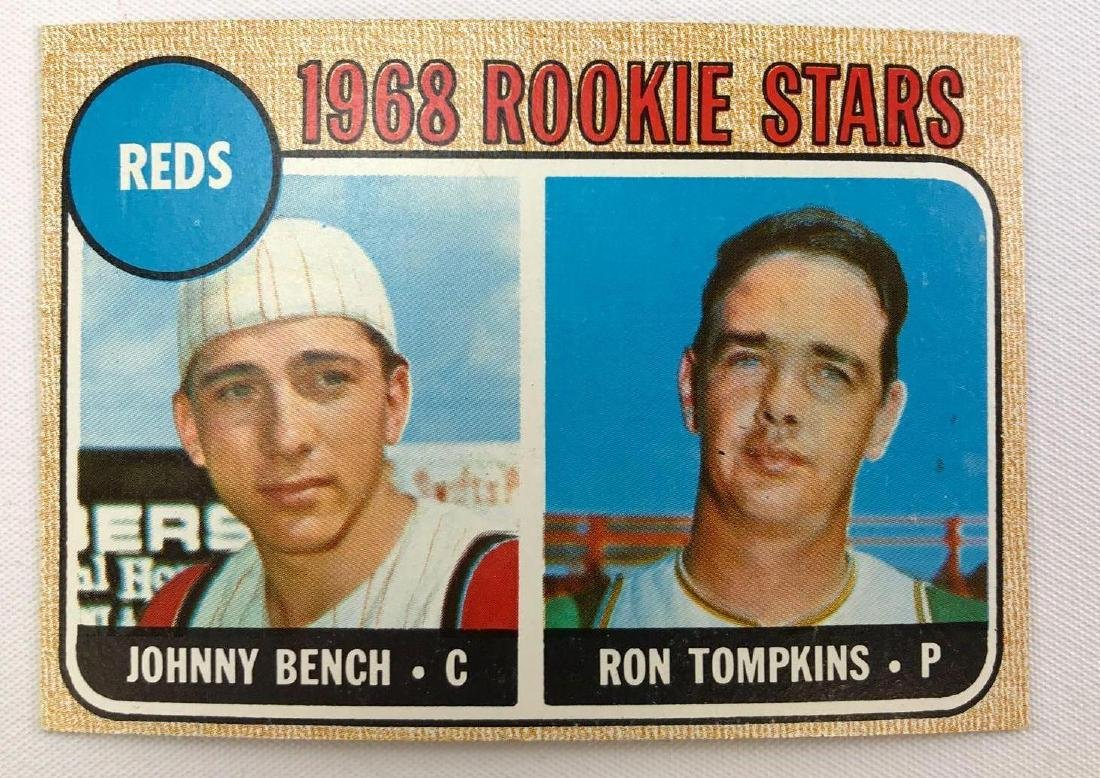1968 Topps rookie stars Johnny Bench and Ron Tompkins