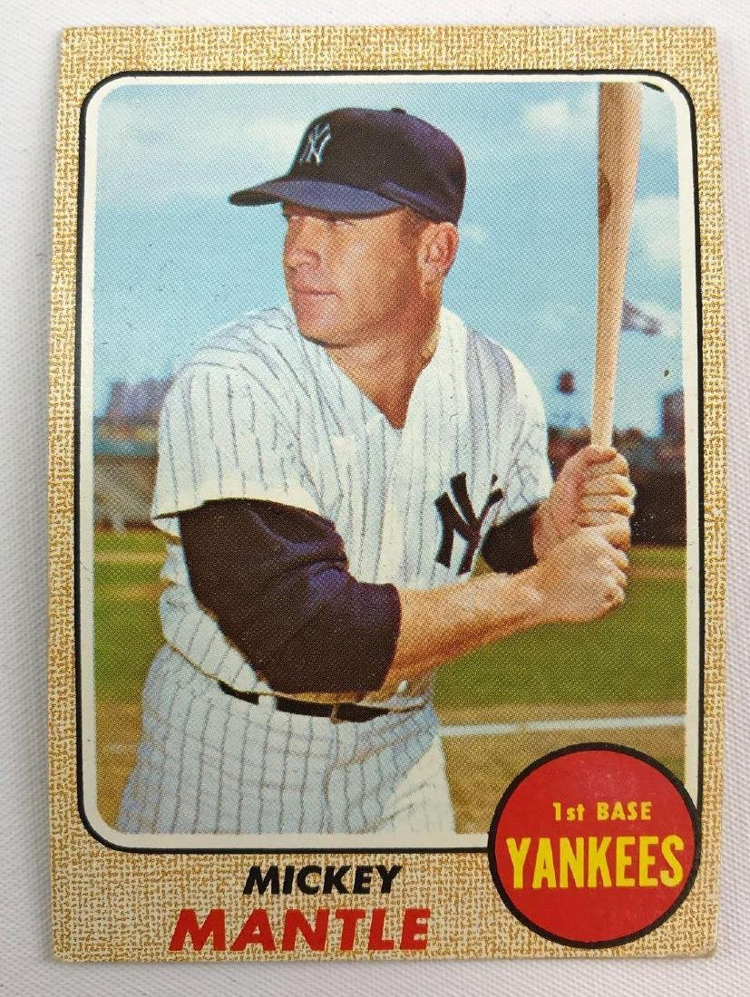 1968 Topps New York Yankees Mickey Mantle baseball card