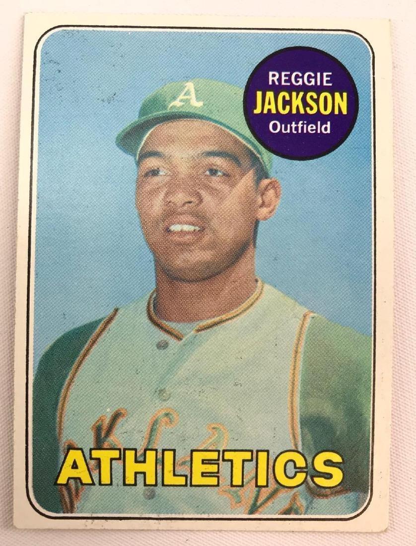 1969 Topps Oakland A's Reggie Jackson rookie baseball