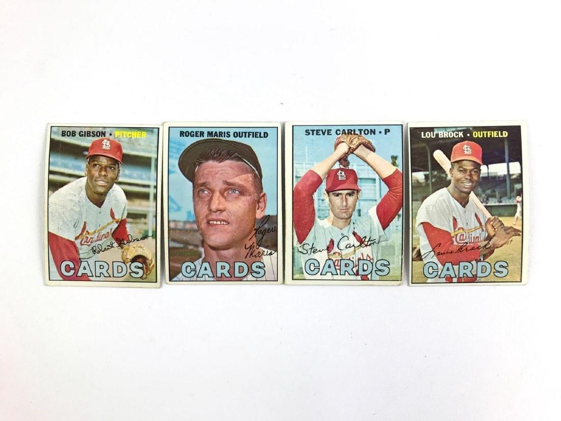 Group before 1967 St. Louis Cardinals Topps baseball