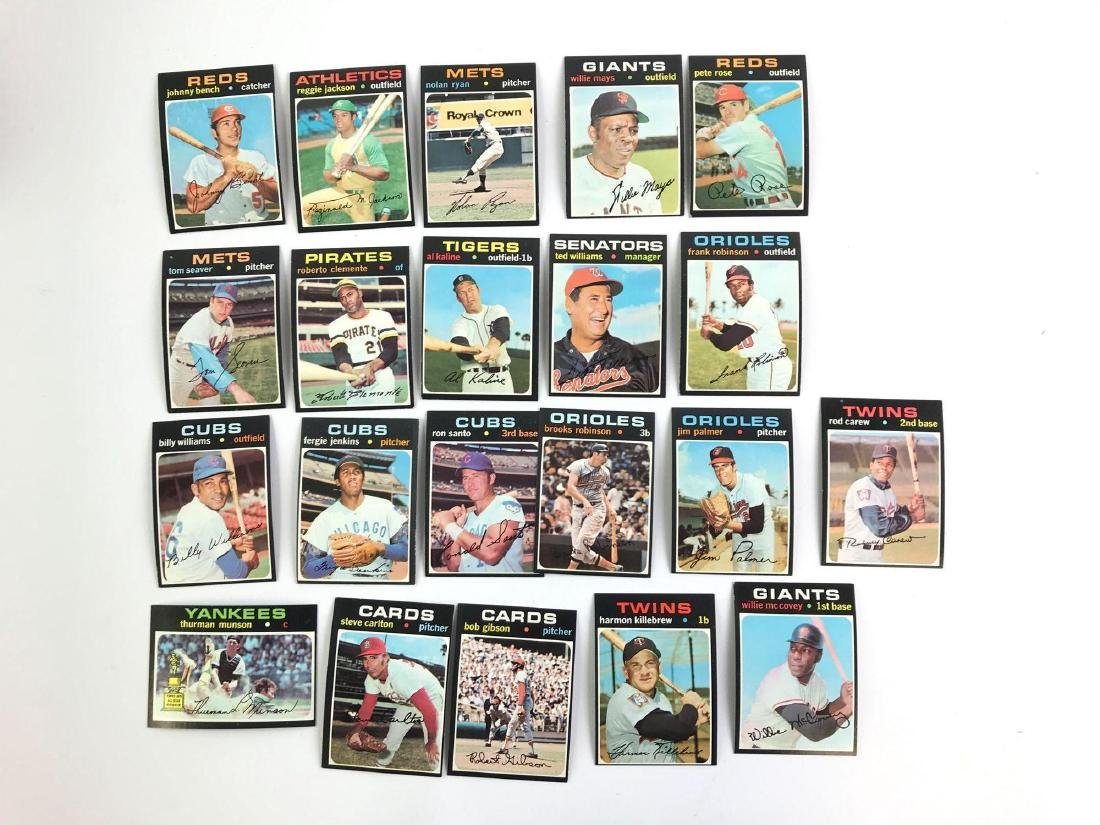 Group of 21 1971 Topps baseball trading cards