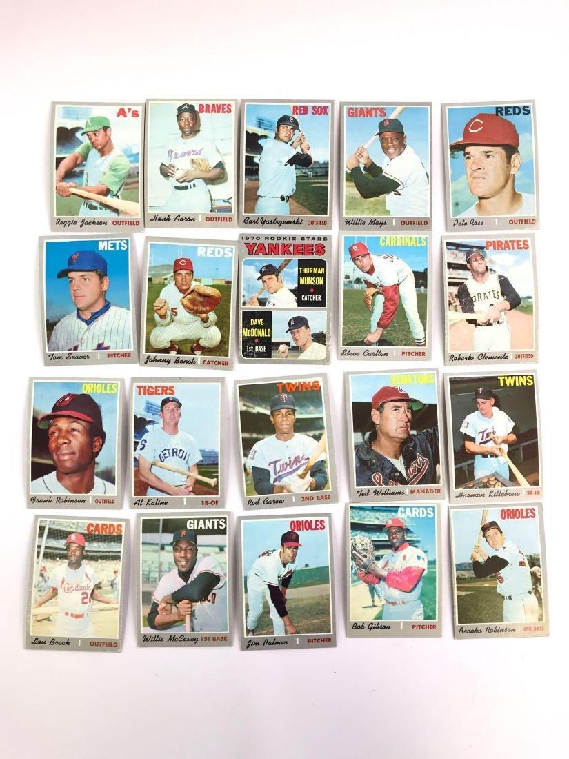 Group of 20 1970 Topps baseball trading cards