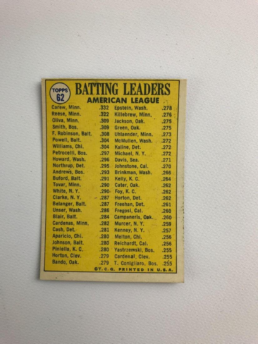 Group of 21 1970 Topps league leaders baseball trading - 2