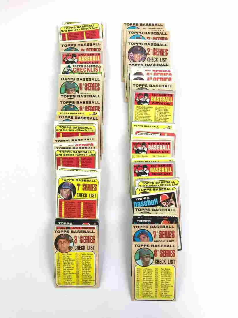 Large group of 1960s 1970s Topps baseball trading card