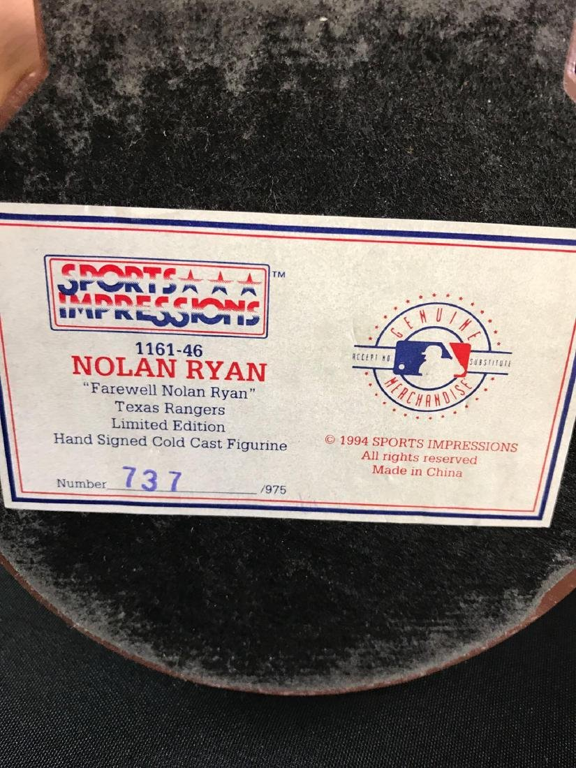 Signed Texas rangers limited edition sports impressions - 3