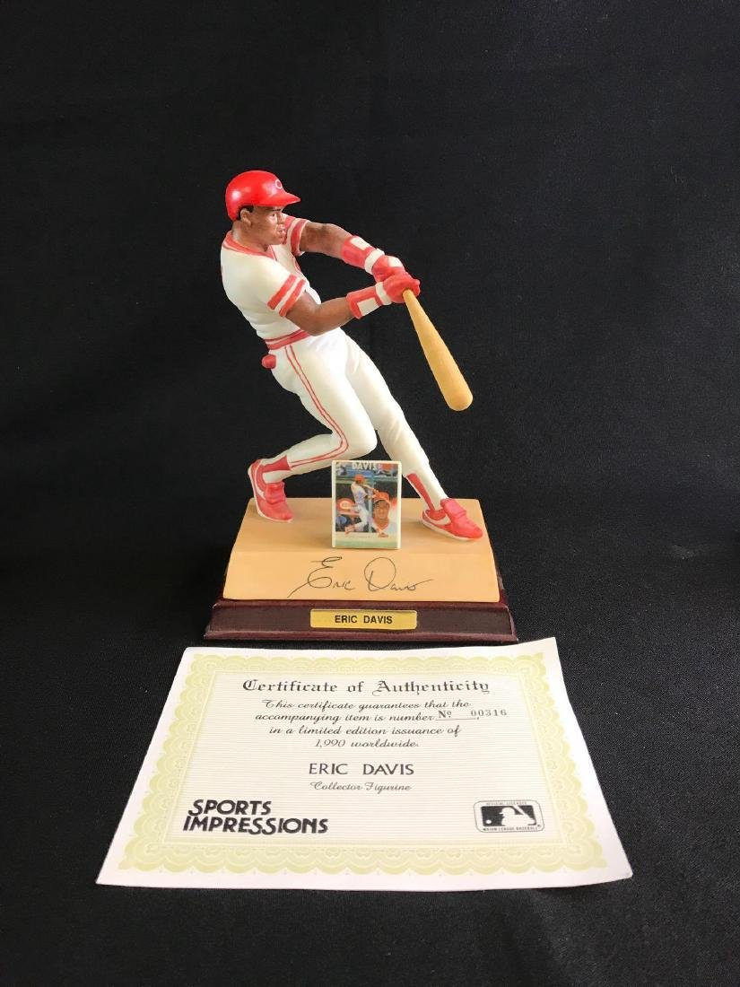 Limited edition sports impressions Eric Davis figurine