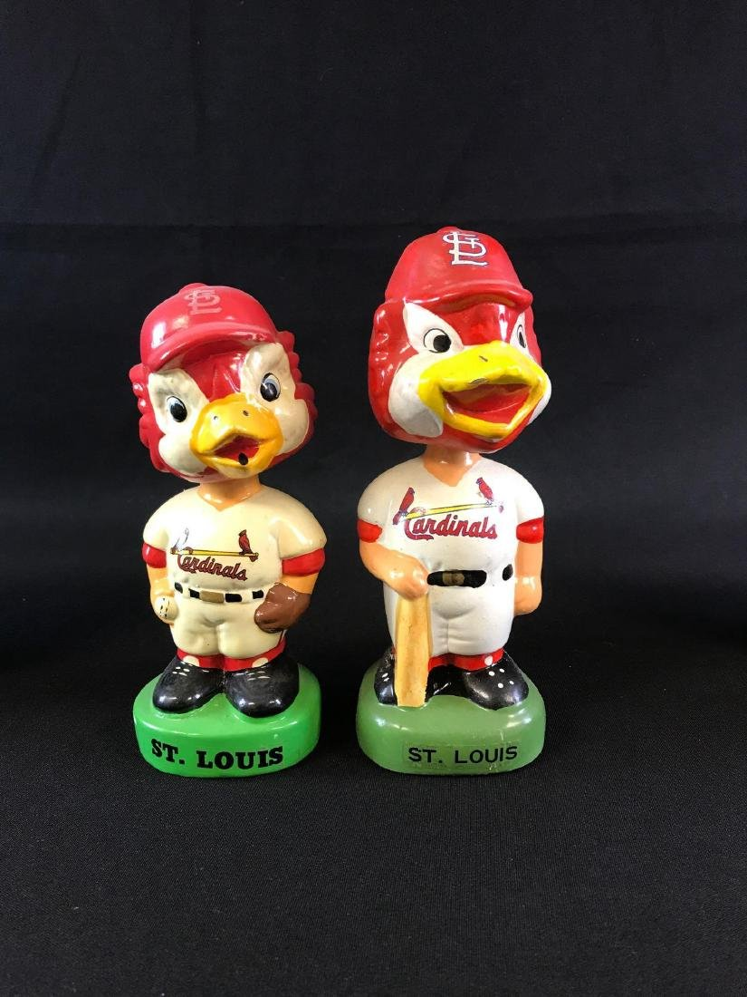 Vintage St. Louis Cardinals mascot porcelain bobble
