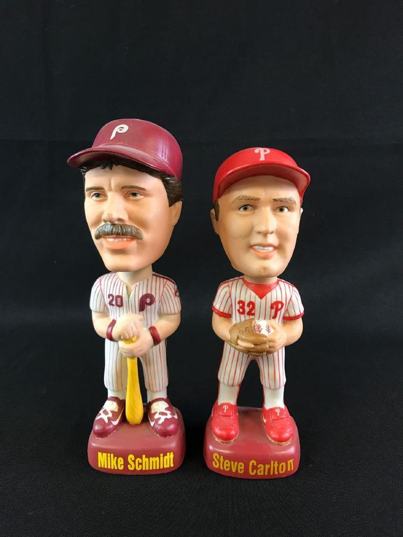 Group of two Philidelphia Phillies MLB player porcelain