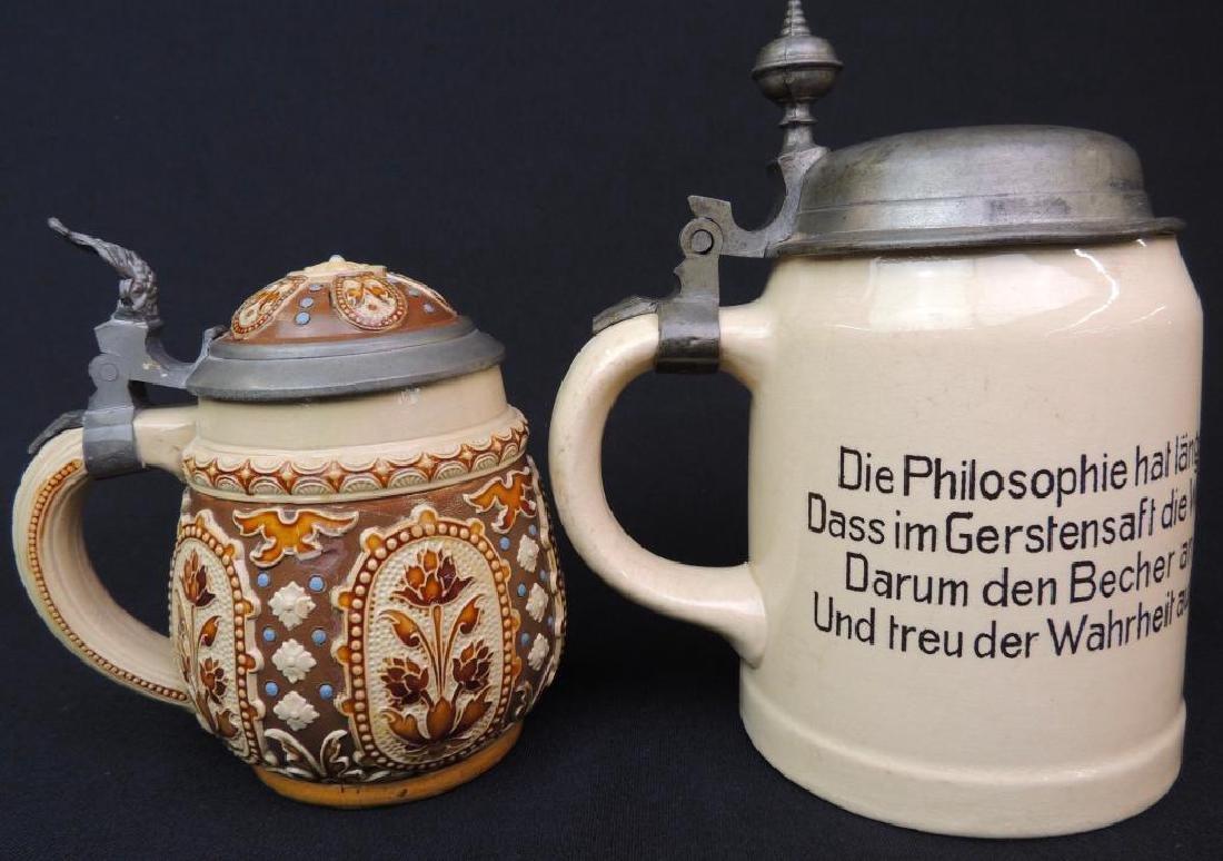 Lot of 2 Antique German Mettlach Steins - 3