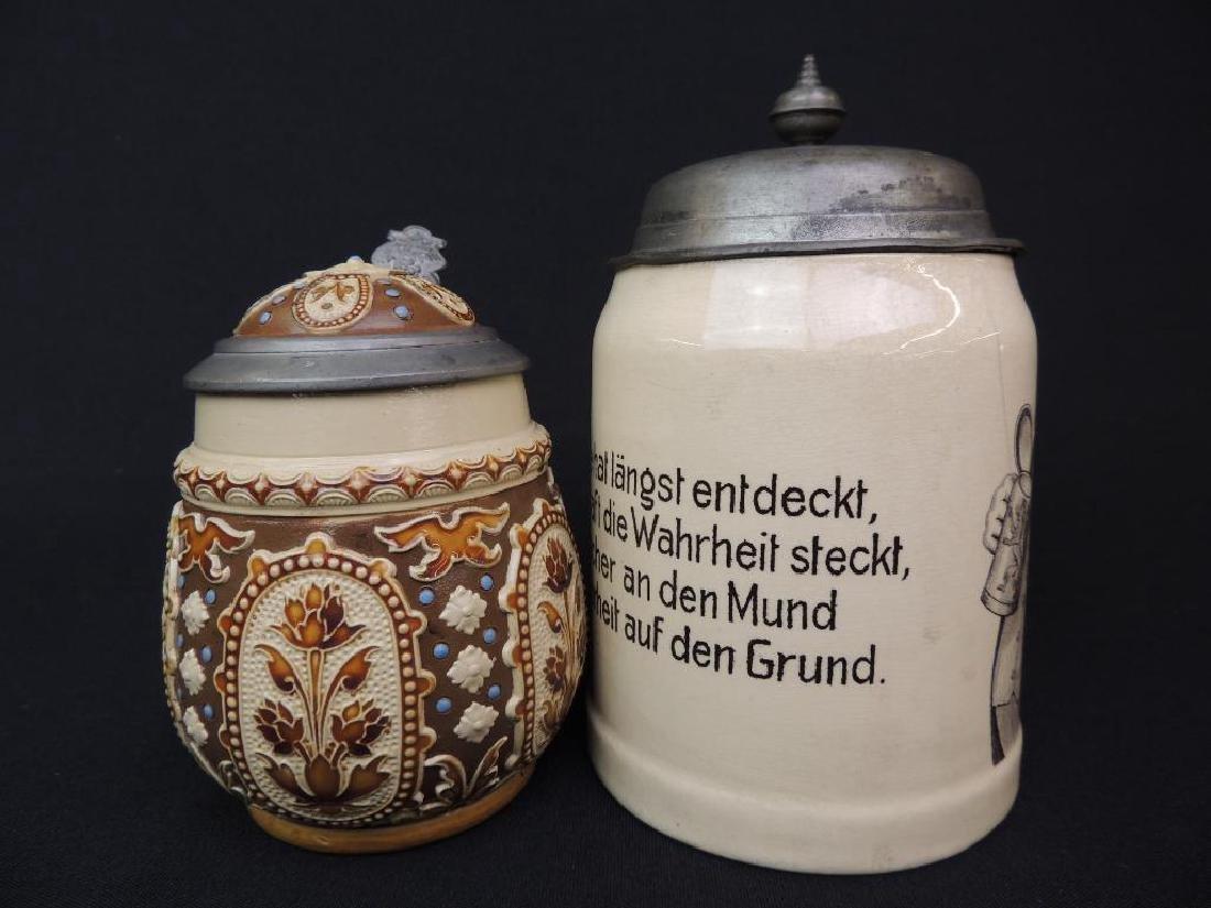 Lot of 2 Antique German Mettlach Steins - 4