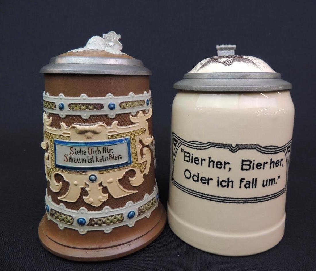 Lot of 2 Antique German Mettlach Steins