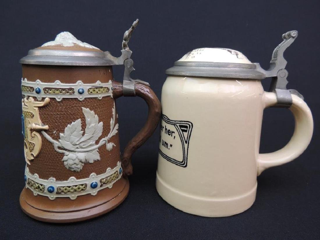 Lot of 2 Antique German Mettlach Steins - 2
