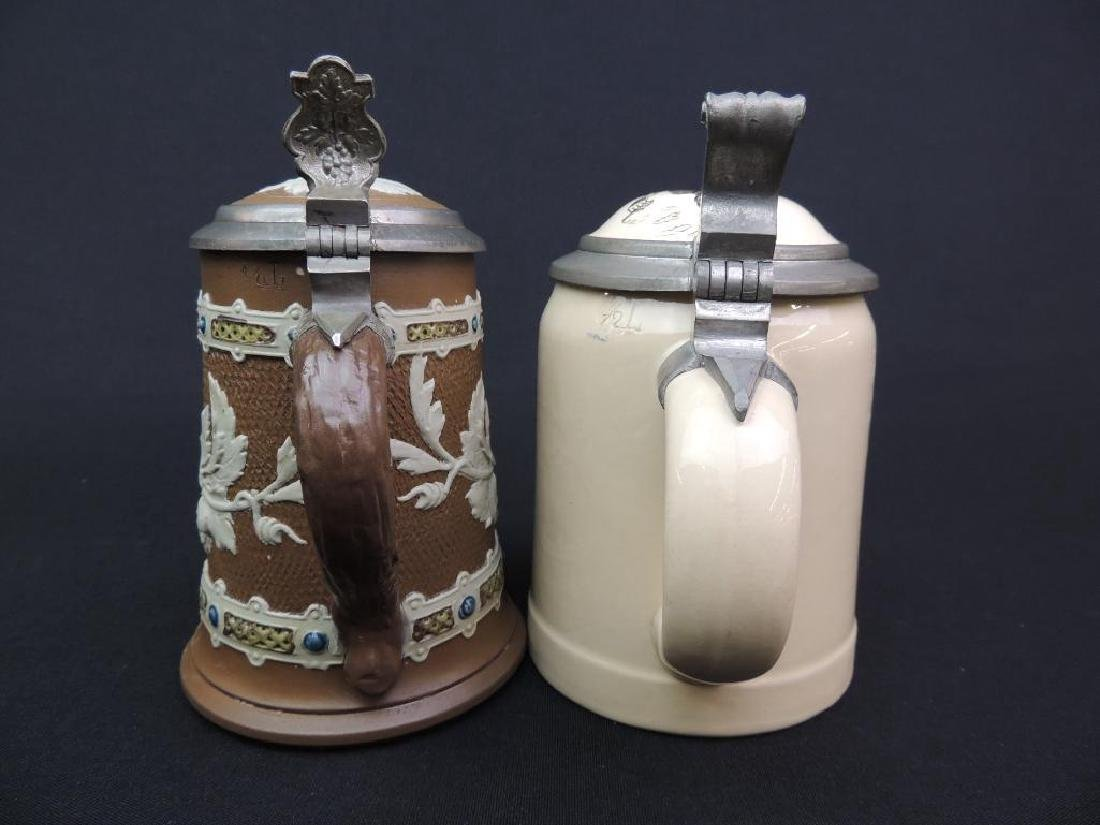 Lot of 2 Antique German Mettlach Steins - 3